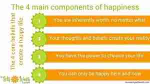 The 4 main components of a happy life