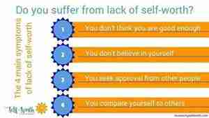 The 4 main symptoms of lack of self-worth