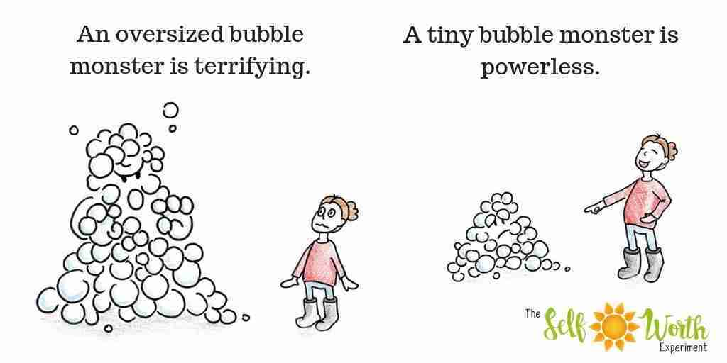 Shrink the bubble monster to eradicate anxiety and depression