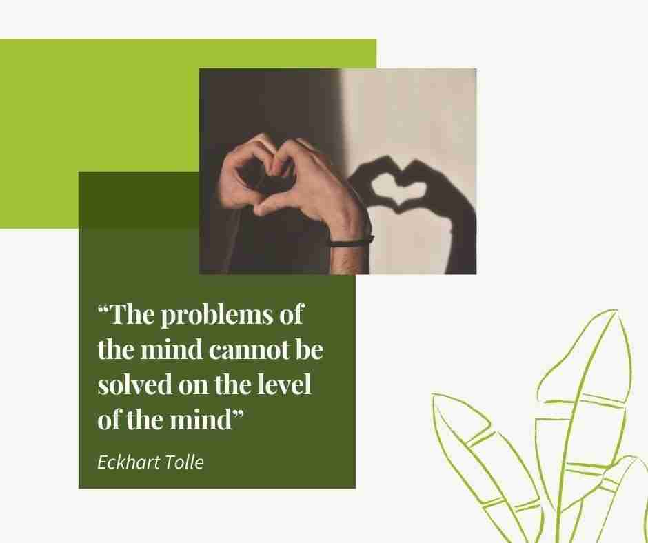The problems of the mind cannot be solved on the level of the mind